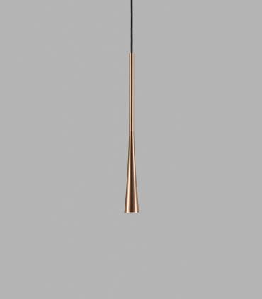 Lámpara Colgante Drop S1 oro rosa 60cm - LIGHT POINT