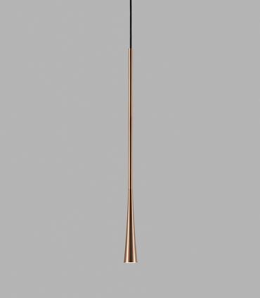 Lámpara Colgante Drop S2 oro rosa 90cm - LIGHT POINT