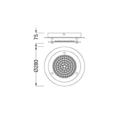 Plafón Crystal Led circular 12W pequeño 5090. Dimensiones.