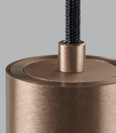Detalle Lámpara Colgante Zero S1 oro rosa Ø70mm - LIGHT POINT