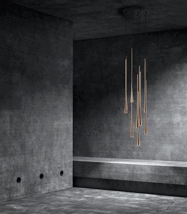 Conjunto Colgantes Drop  oro rosa con base - LIGHT POINT