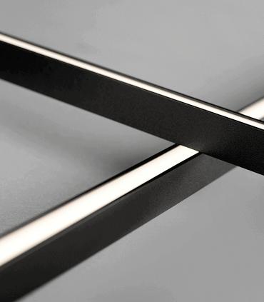 Detalle:  Aplique-Plafón Stripe C/W S1500 negro 150cm - LIGHT POINT