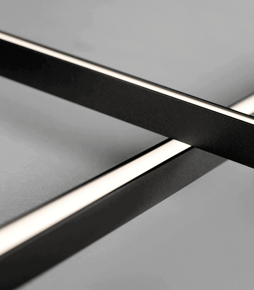 Detalle:  Aplique-Plafón Stripe C/W S2000 negro 200cm - LIGHT POINT