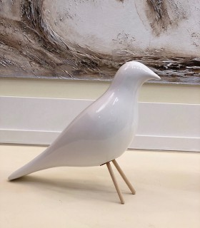 PAJARO ceramica color blanco