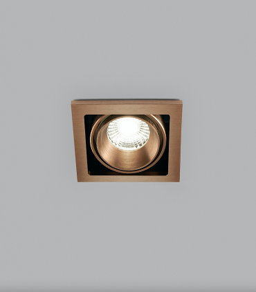 Foco Empotrable Ghost 1 Led 1L 6W oro rosa 270800 - LIGHT POINT