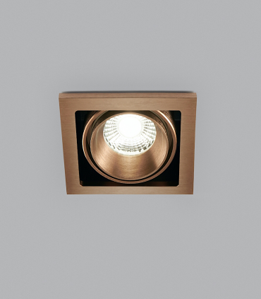 Foco Empotrable Ghost 1+ Led 1L 10W oro rosa - LIGHT POINT