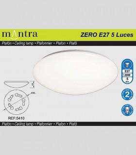 ZERO E27 Plafón redondo blanco Ø50cm - 9L E27 - MANTRA