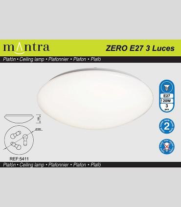 ZERO E27 Plafón redondo blanco Ø36.50cm - 3L E27 5411 - MANTRA