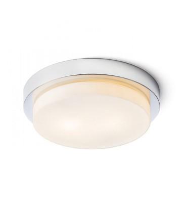 Plafón redondo de bombillas GORRA CROMO  E-14 Ø27cm  2L IP44