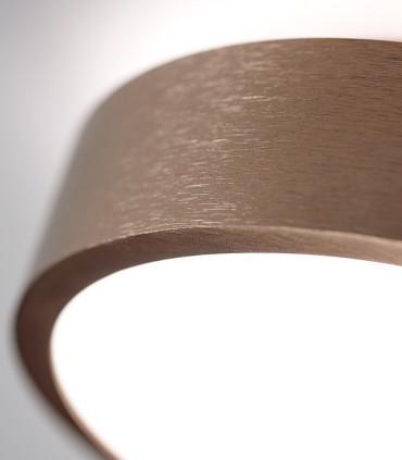 Plafón-aplique de diseño Shadow 1 oro rosa 7+3W Ø15 cm  - LIGHT POINT