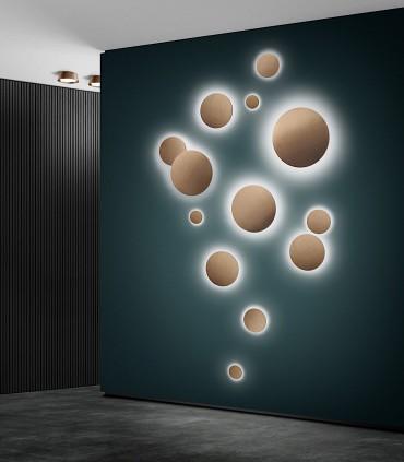 Composición con Apliques de diseño SOHO oro rosa - LIGHT POINT