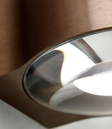 Detalle Aplique de diseño ORBIT oro rosa - LIGHT POINT
