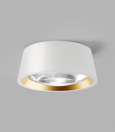 OPTIC OUT 1+ blanco - LIGHT POINT con arillo dorado incluido.
