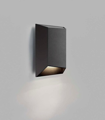 Aplique de diseño FACET DOWN W1 negro LED - LIGHT POINT