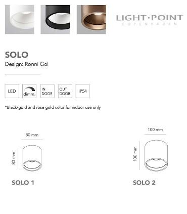 Características Focos superficie SOLO ROUND 2oro rosa - LIGHT POINT