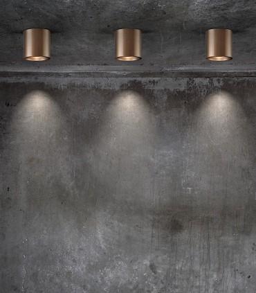 Imagen con Focos de superficie SOLO ROUND oro rosa - LIGHT POINT