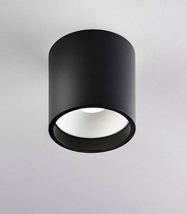 Foco superficie SOLO ROUND 1 negro/blanco - LIGHT POINT