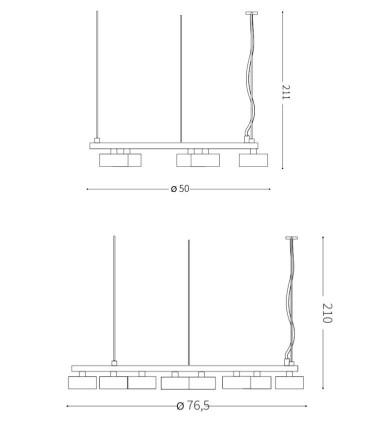 Dimensiones Lámparas de techo MINOR SP - IDEAL LUX