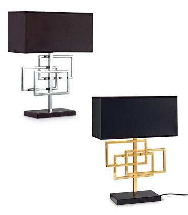 Lámparas de sobremesa LUXURY TL1 cromo, oro - IDEAL LUX