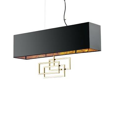 Lámpara suspensión LUXURY SP6 oro - IDEAL LUX