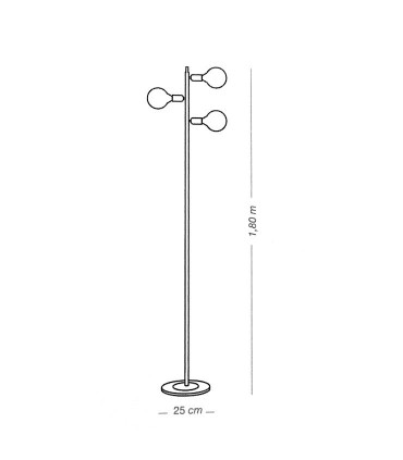 Dimensiones Lámpara de pie TILT 3 luces - ILUSORIA