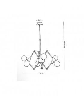 Dimensiones: Lámpara SPIDER 6L E27 - ILUSORIA