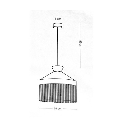 Medidas: Lámpara PAMELA  Ø55  de ILUSORIA Lamps