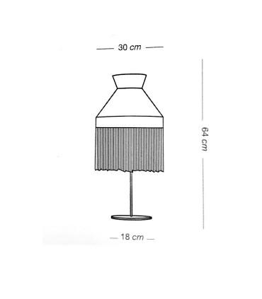 Dimensiones: Lámpara de mesa PAMELA saco 1L E27 - ILUSORIA