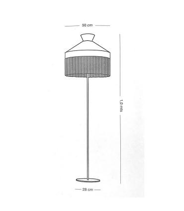Dimensiones: Lámpara de pie PAMELA saco 1L E27 - ILUSORIA