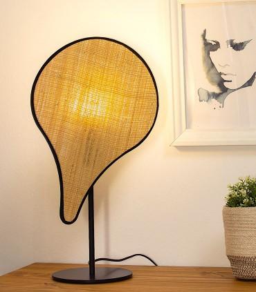 Lámpara de mesa PALMITO rafia 1L E27 - ILUSORIA