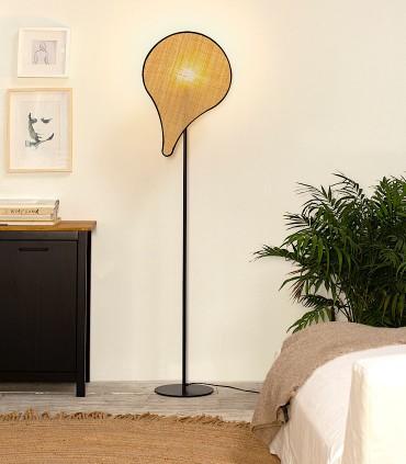 Lámpara de pie PALMITO rafia 1L E27 - ILUSORIA