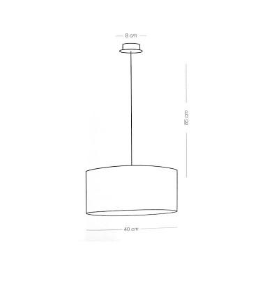 Dimensiones Lámpara de techo pantalla RAFIA 1L E27 - ILUSORIA