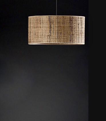 Lámpara de techo pantalla RAFIA 1L E27 - ILUSORIA