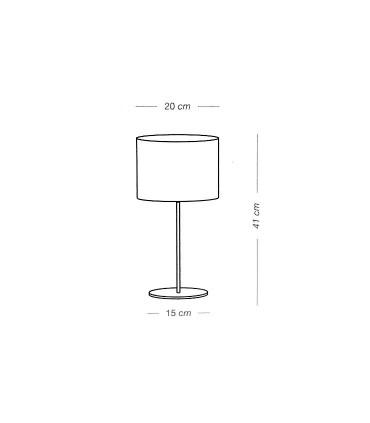 Medidas: Lámpara de mesa RAFIA 1L E27 - ILUSORIA