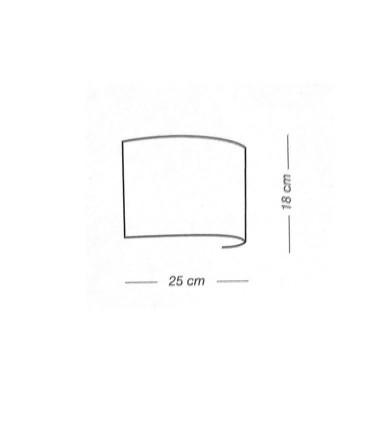Dimensiones: Aplique de pared RAFIA 1L E27 - ILUSORIA