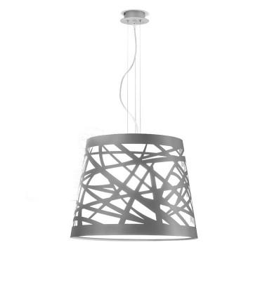 Lámpara de techo TAPE Láser gris 3L E27 - ILUSORIA