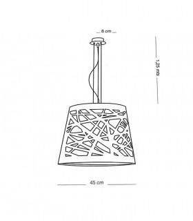 Medidas: Lámpara de techo TAPE Láser gris 3L E27 - ILUSORIA