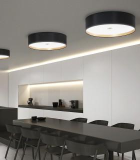 Plafones de techo WIRE LED Negro-oro 36W - ILUSORIA