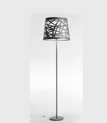 Lámpara de pie TAPE Láser gris 1L E27 - ILUSORIA
