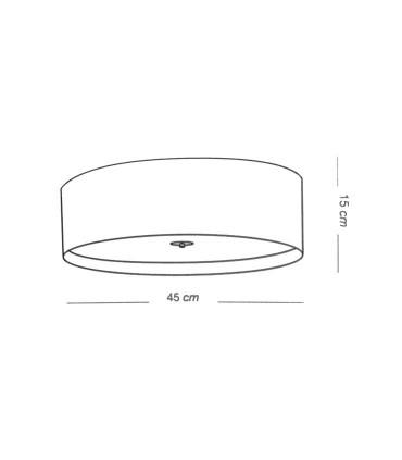 Medidas: Plafón de techo pequeño WIRE LED 36W - ILUSORIA