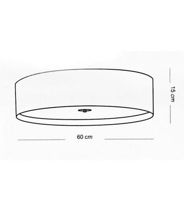 Medidas: Plafón de techo grande WIRE LED 36W - ILUSORIA