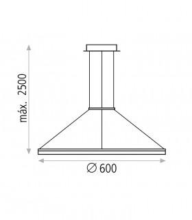Dimensiones Lámpara Colgante BELENUS LED 60cm - ACB