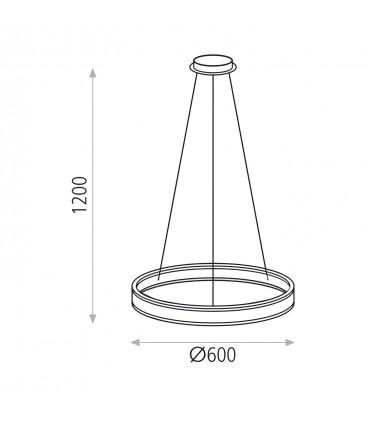 Dimensiones Lámpara NASSAU LED 52W  ACB