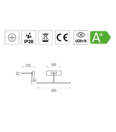 Características Aplique alumbracuadros Adan LED 45.5cm - ACB