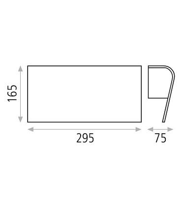 Dimensiones: Aplique bombilla E27 Azael - ACB