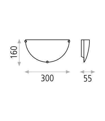Dimensiones: Aplique para bombilla Kali E14 - ACB