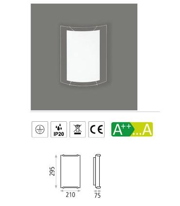 Características: Aplique bombilla E14 Akil - ACB
