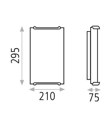 Dimensiones: Aplique bombilla E14 Akil - ACB