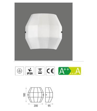 Características: Aplique bombilla E27 City - ACB