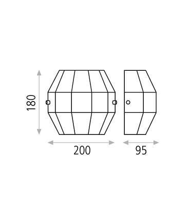 Dimensiones: Aplique bombilla E27 City - ACB